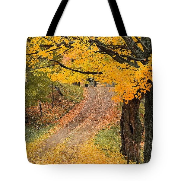 Autumn Country Road Tote Bag by Alan L Graham