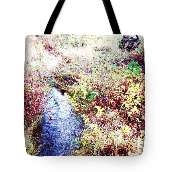 Autumn Creek Tote Bag by Vanessa Palomino