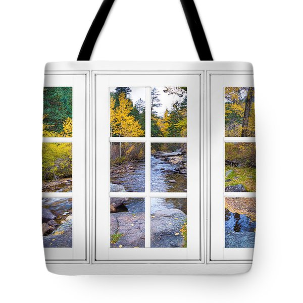 Autumn Creek White Picture Window Frame View Tote Bag by James BO  Insogna