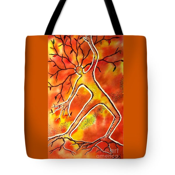 Autumn Dancing Tote Bag