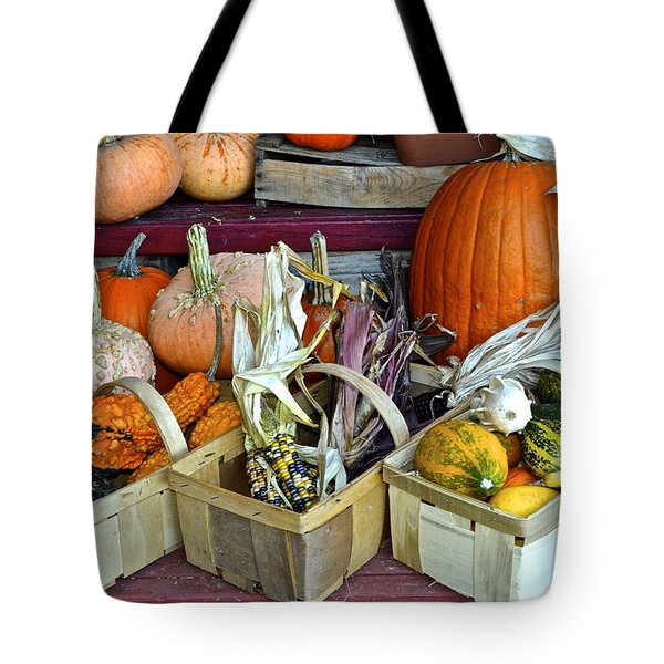 Autumn Display Tote Bag by Frozen in Time Fine Art Photography