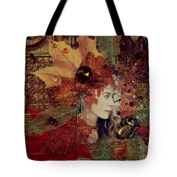 Autumn Dryad Collage Tote Bag