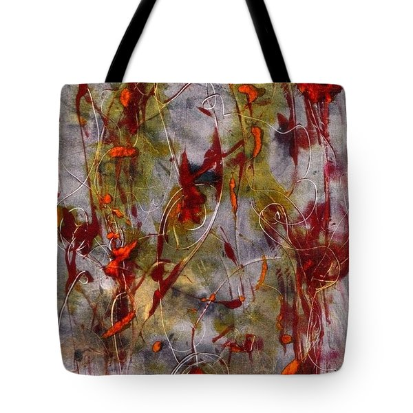 Tote Bag featuring the painting Autumn Faeries by Lesley Fletcher