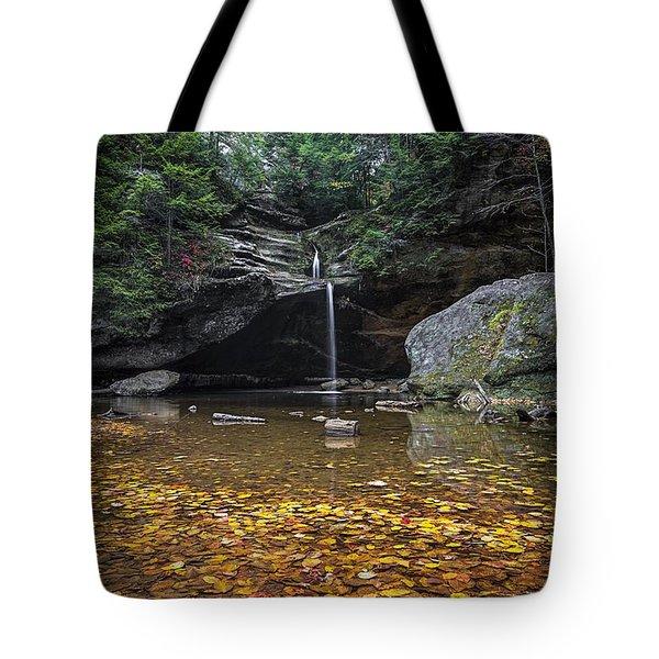 Autumn Falls Tote Bag by James Dean