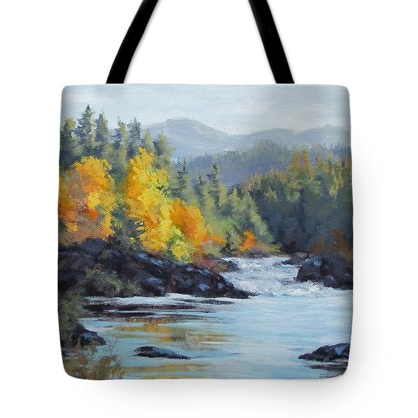 Autumn Falls Tote Bag by Karen Ilari