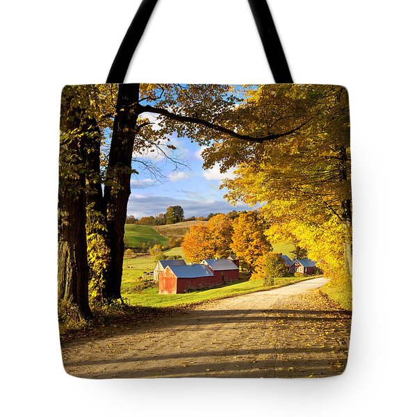 Autumn Farm In Vermont Tote Bag by Brian Jannsen