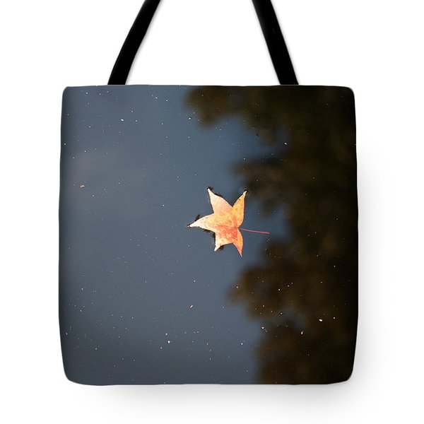 Tote Bag featuring the photograph Autumn Floating By by Rebecca Davis