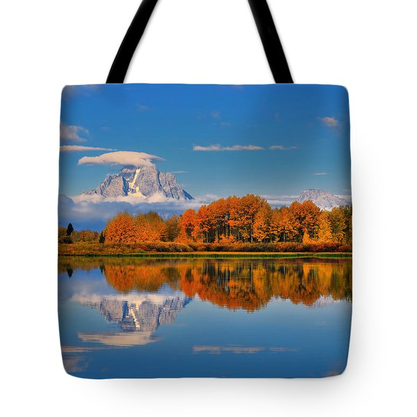 Autumn Foliage At The Oxbow Tote Bag