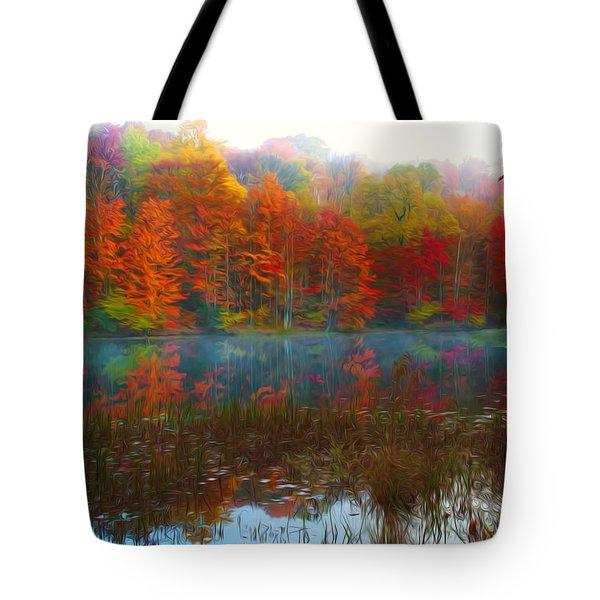Autumn Foliage Tote Bag by Lanjee Chee