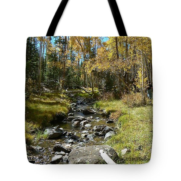 Tote Bag featuring the photograph Autumn Stream by Deborah Moen
