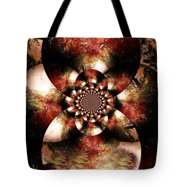 Autumn Fractal Abstract Tote Bag by Maggie Vlazny