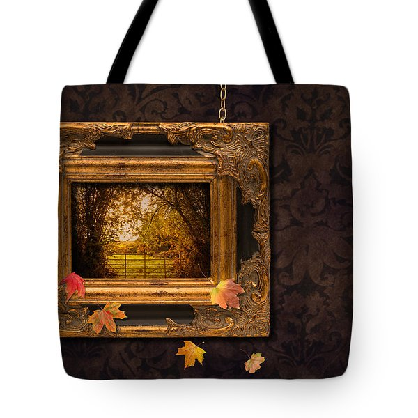 Autumn Frame Tote Bag by Amanda Elwell
