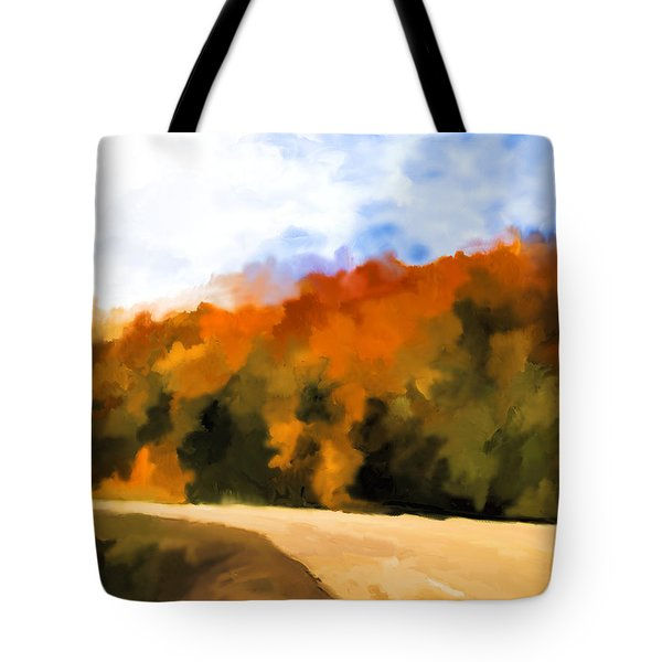 Autumn Fringe Tote Bag by Jo-Anne Gazo-McKim