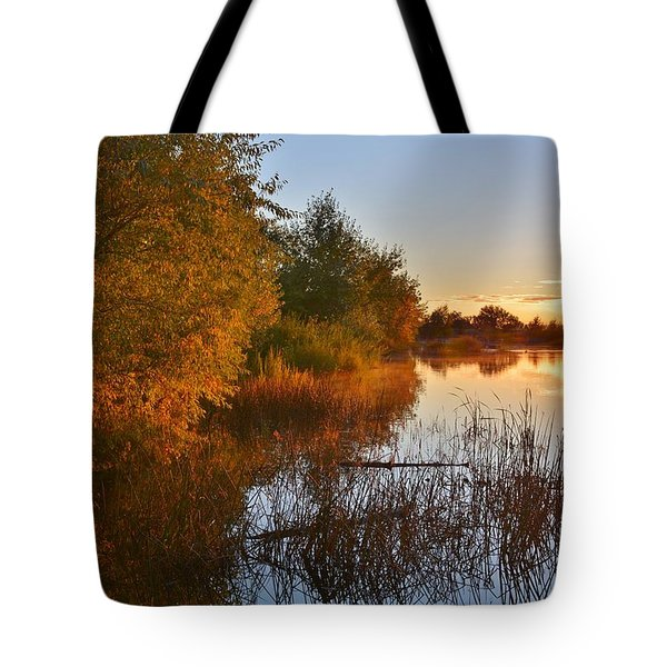 Autumn Glow At The Lake Tote Bag