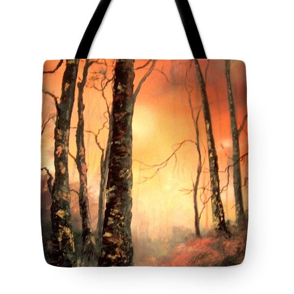 Tote Bag featuring the painting Autumn Glow by Jean Walker