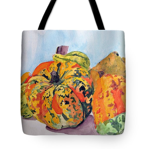 Autumn Gourds Tote Bag by Sandy McIntire