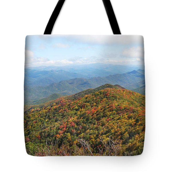 Autumn Great Smoky Mountains Tote Bag by Melinda Fawver