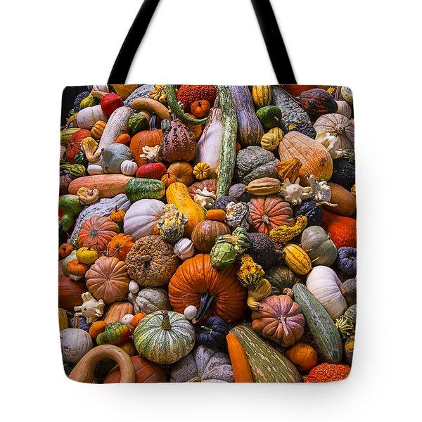 Autumn Harvest Pile Tote Bag