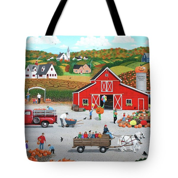 Autumn Harvest Tote Bag by Wilfrido Limvalencia