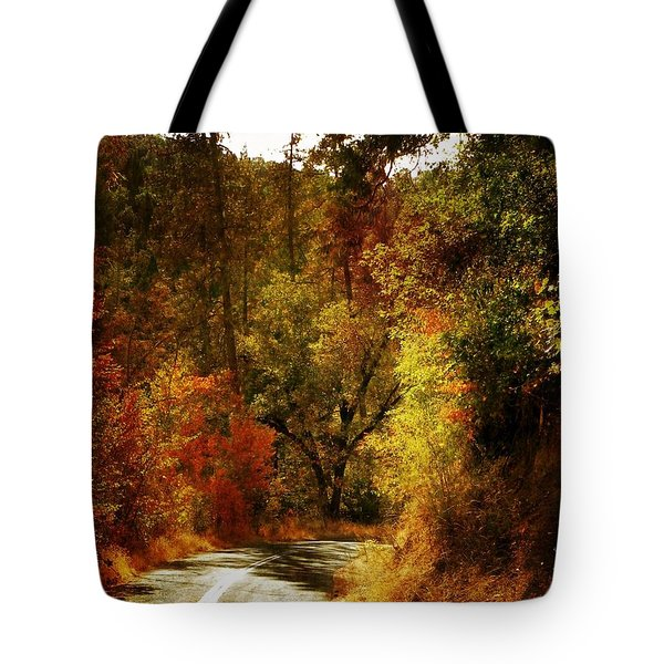 Autumn Highway Tote Bag