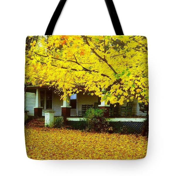 Tote Bag featuring the photograph Autumn Homestead by Rodney Lee Williams