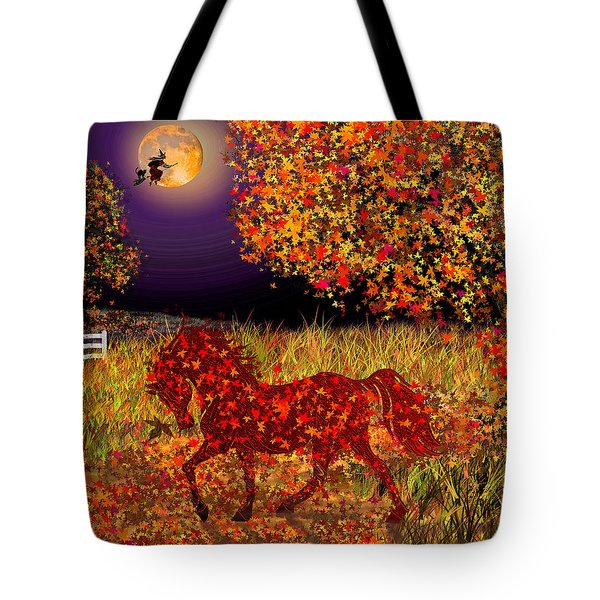 Autumn Horse Bewitched Tote Bag
