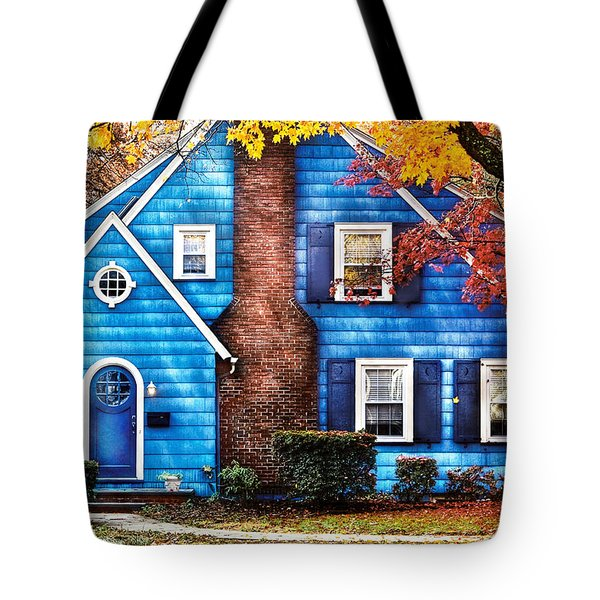 Autumn - House - Little Dream House  Tote Bag by Mike Savad