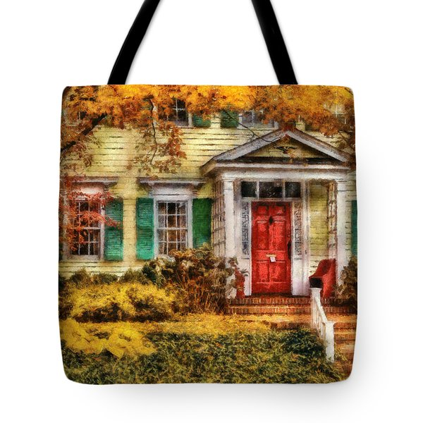 Autumn - House - Local Suburbia Tote Bag by Mike Savad