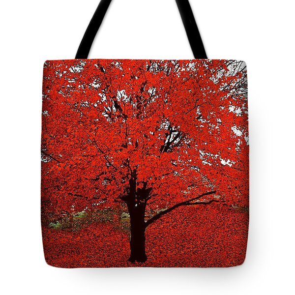 Red Tree Impressions #1 Red Tote Bag