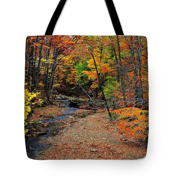 Autumn In Full Bloom Tote Bag by Frozen in Time Fine Art Photography