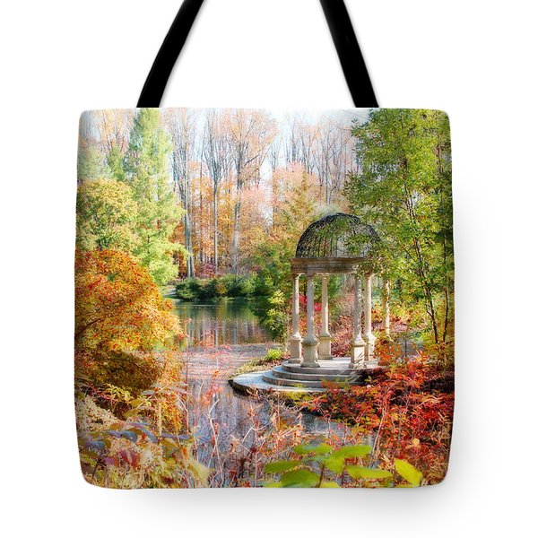 Tote Bag featuring the photograph Autumn In Longwood Gardens by Trina  Ansel