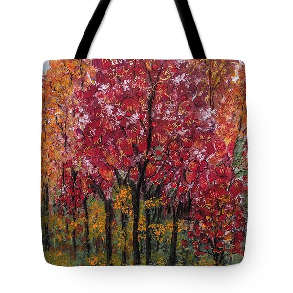 Autumn In Nashville Tote Bag by Holly Carmichael