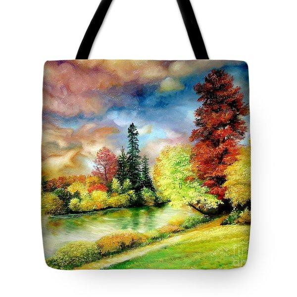Autumn In Park Tote Bag