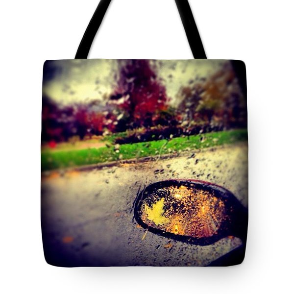 Autumn In Rear View Tote Bag