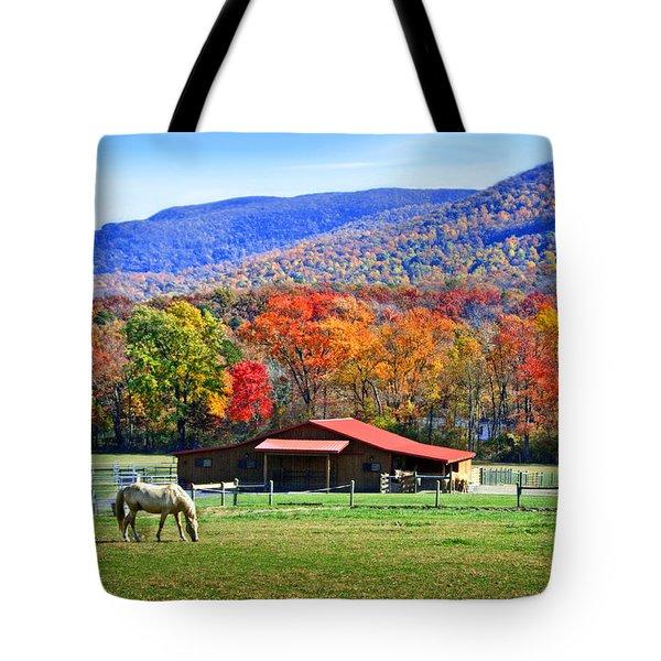 Autumn In Rural Virginia  Tote Bag by Lynn Bauer