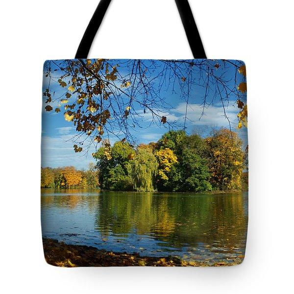 Autumn In The Park 2 Tote Bag by Rudi Prott