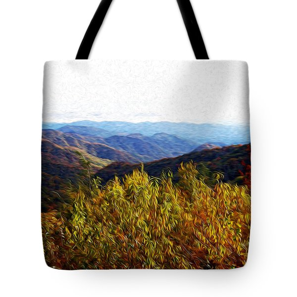 Autumn In The Smokey Mountains Tote Bag by Phil Perkins