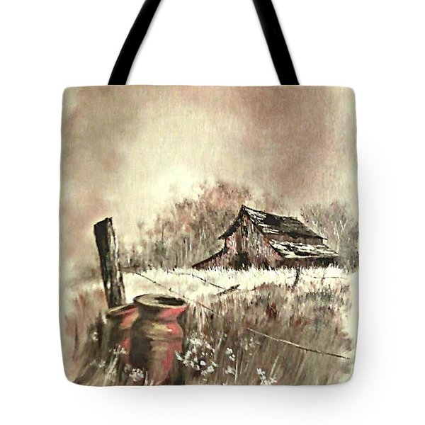 Autumn In View At Mac Gregors Barn Tote Bag by Carol Wisniewski