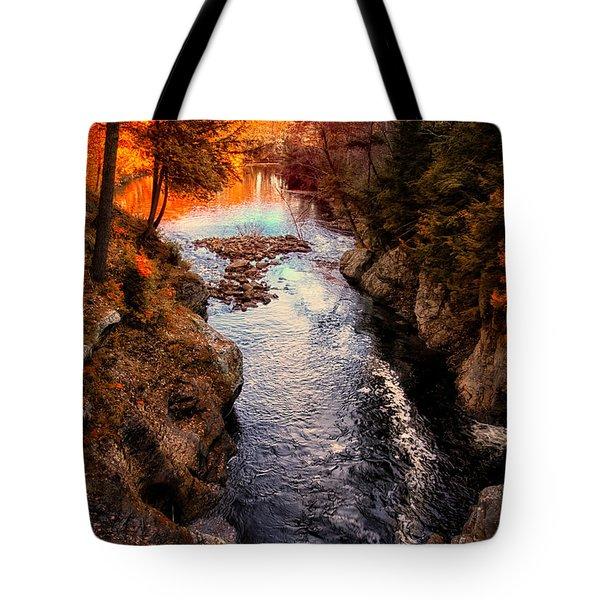 Autumn In West Paris Tote Bag by Bob Orsillo