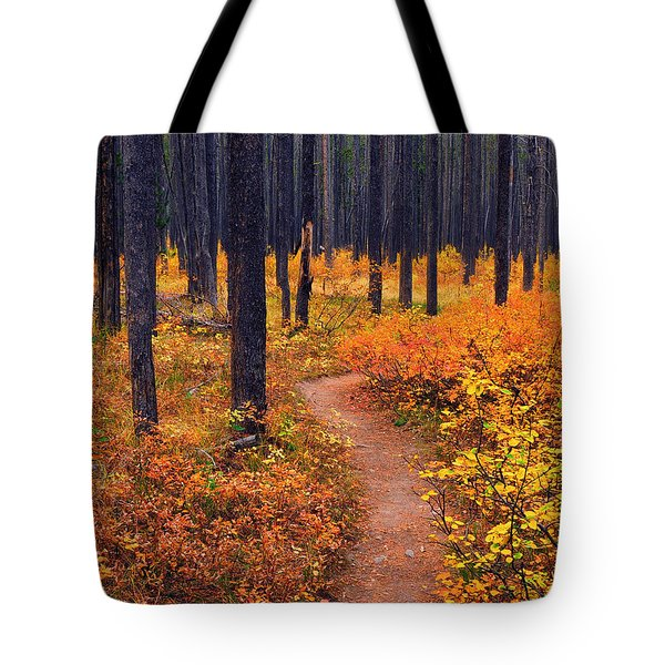 Tote Bag featuring the photograph Autumn In Yellowstone by Raymond Salani III