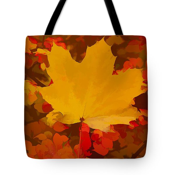 Tote Bag featuring the photograph Autumn Is A State Of Mind More Than A Time Of Year by Jeff Folger