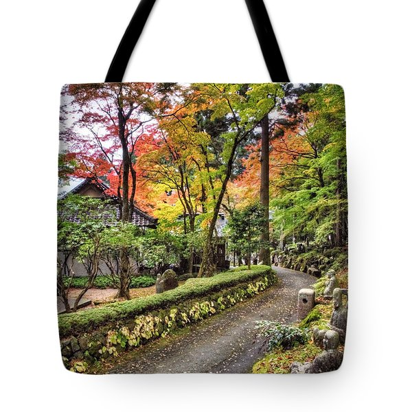 Tote Bag featuring the photograph Autumn Walk by John Swartz