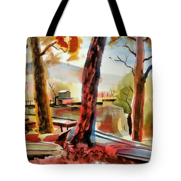 Autumn Jon Boats I Tote Bag by Kip DeVore