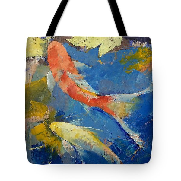 Autumn Koi Garden Tote Bag by Michael Creese
