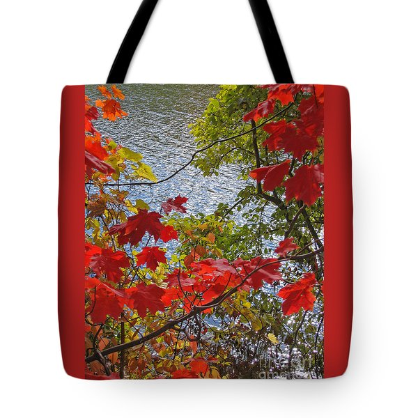 Autumn Lake Tote Bag by Ann Horn