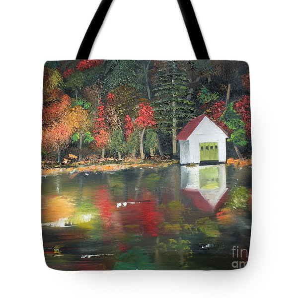Autumn - Lake - Reflecton Tote Bag by Jan Dappen