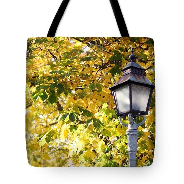 Autumn Lamp Post Tote Bag