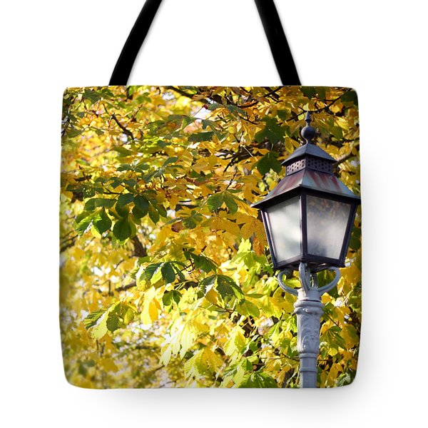 Autumn Lamp Post Tote Bag