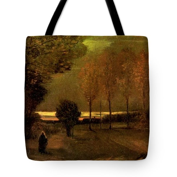 Autumn Landscape At Dusk 1885 Tote Bag by Vincent Van Gogh