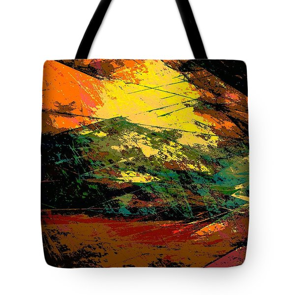 Autumn Landscape Tote Bag by Klara Acel